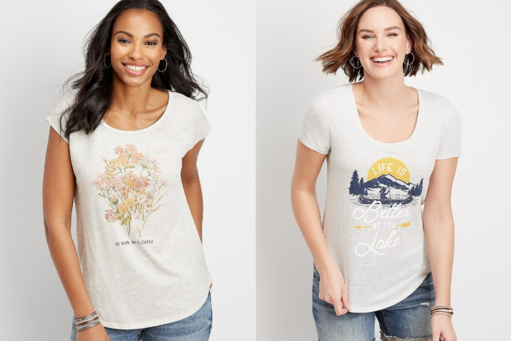 maurices tees flower and lake tees