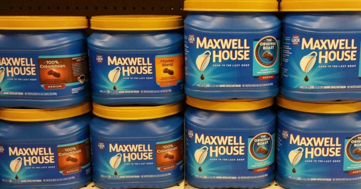 maxwell house variety on shelf