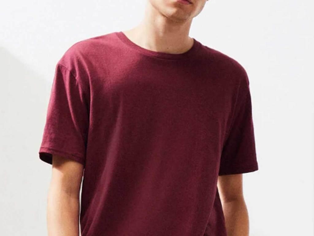 pas sun red men's tee shirt