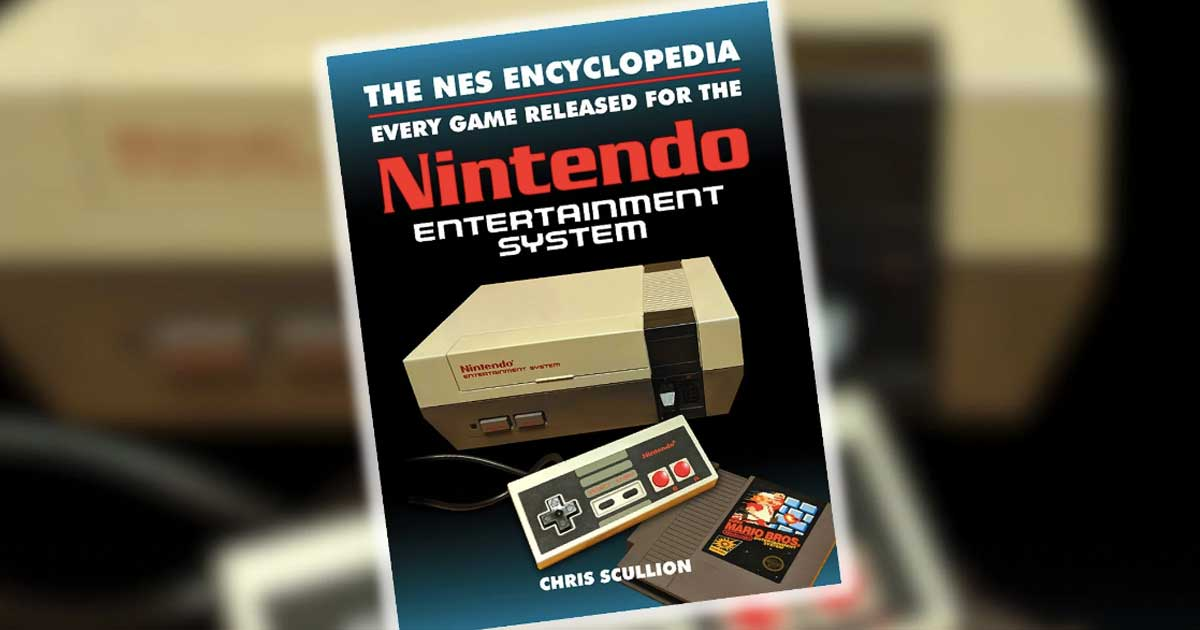 The NES Encyclopedia in foreground with game in back