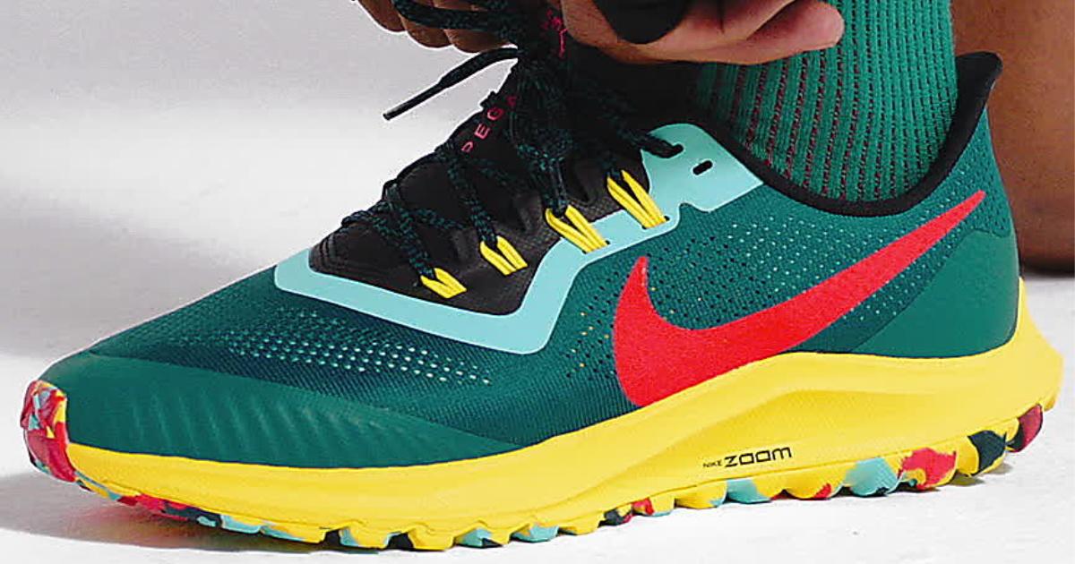 multi-colored nike shoe