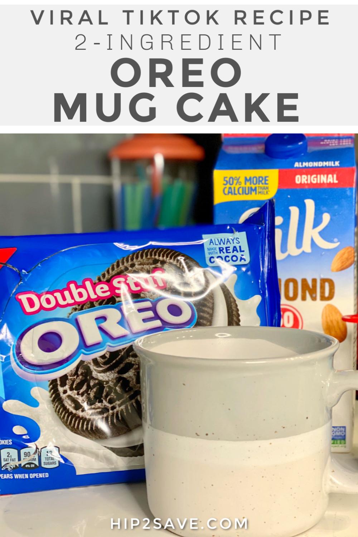 2 Ingredient Oreo Mug Cake The Viral Recipe From Tiktok Hip2save