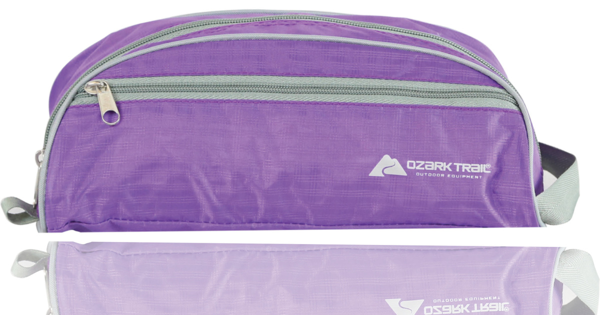 purple ozark trail pack with zipper in front
