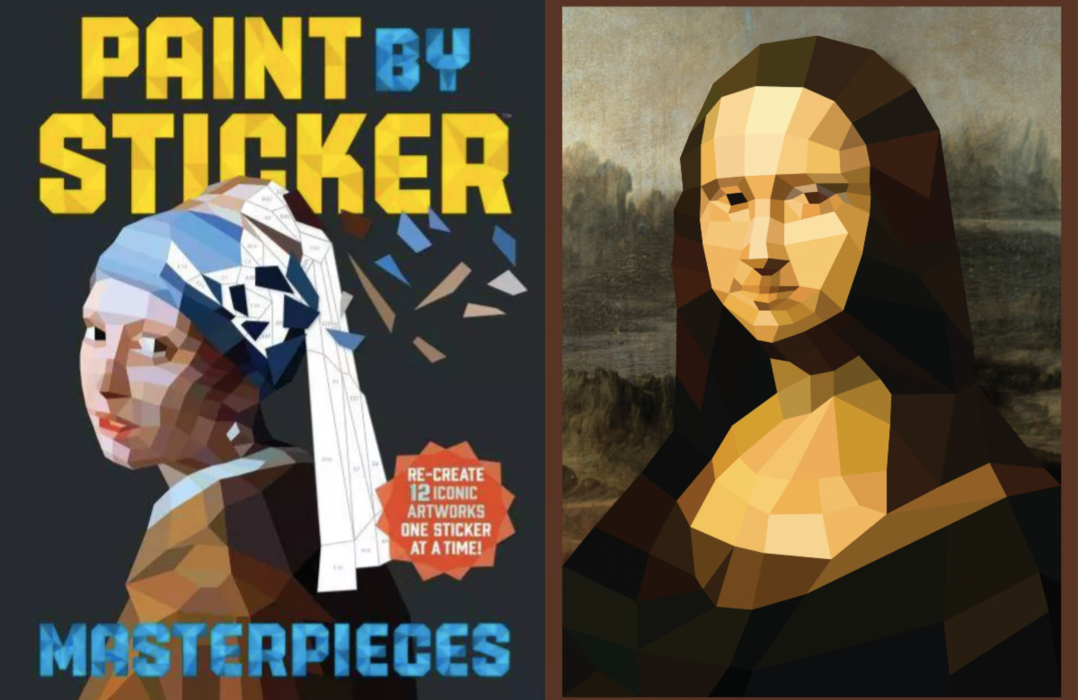 paint by sticker masterpieces with mona lisa