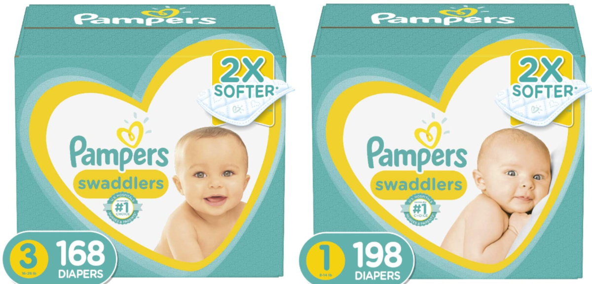 pampers swaddlers size 3 and size 1