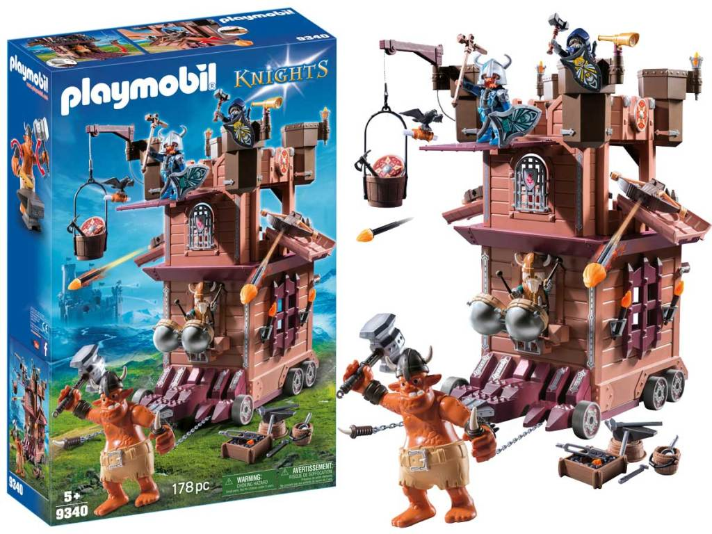 playmobil fortress box and set