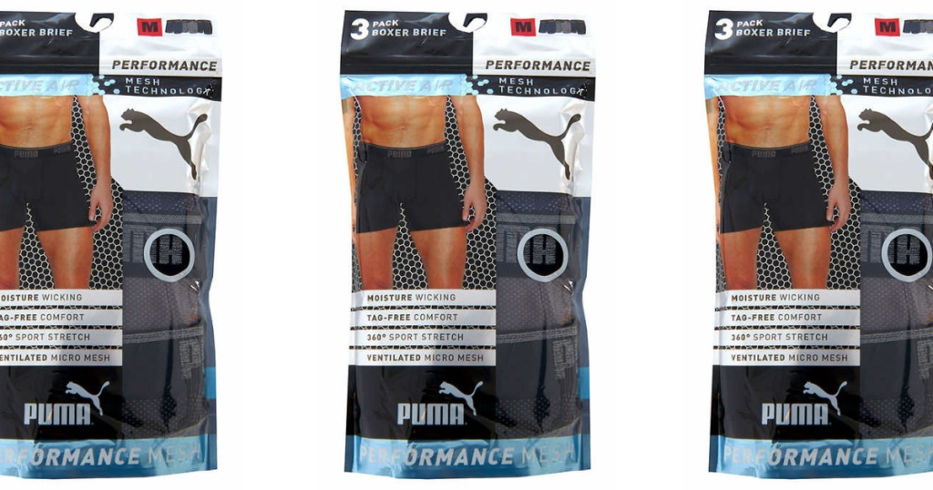 puma boxer briefs in package