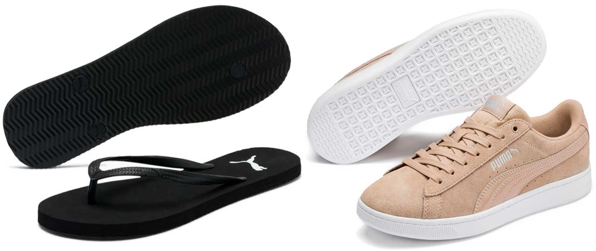 women's puma flip flops and sneakers