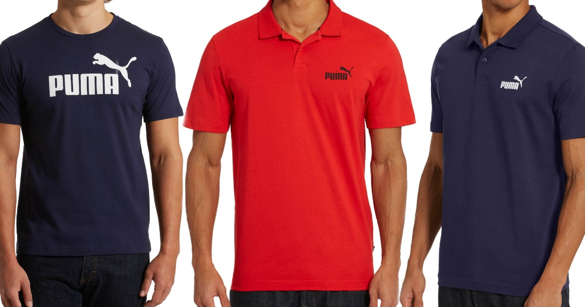 puma mens shirts and polos