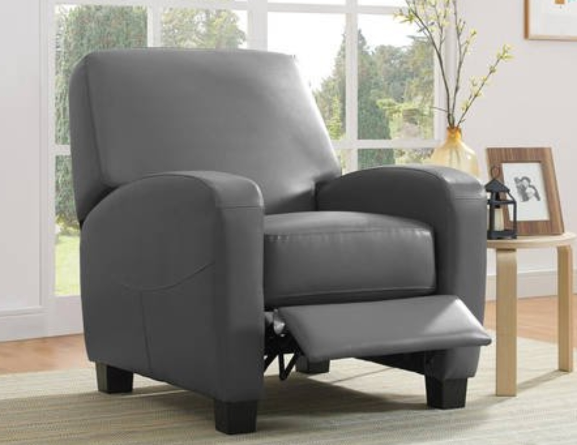 recliner theater chair, reclined with leg rest pushed out