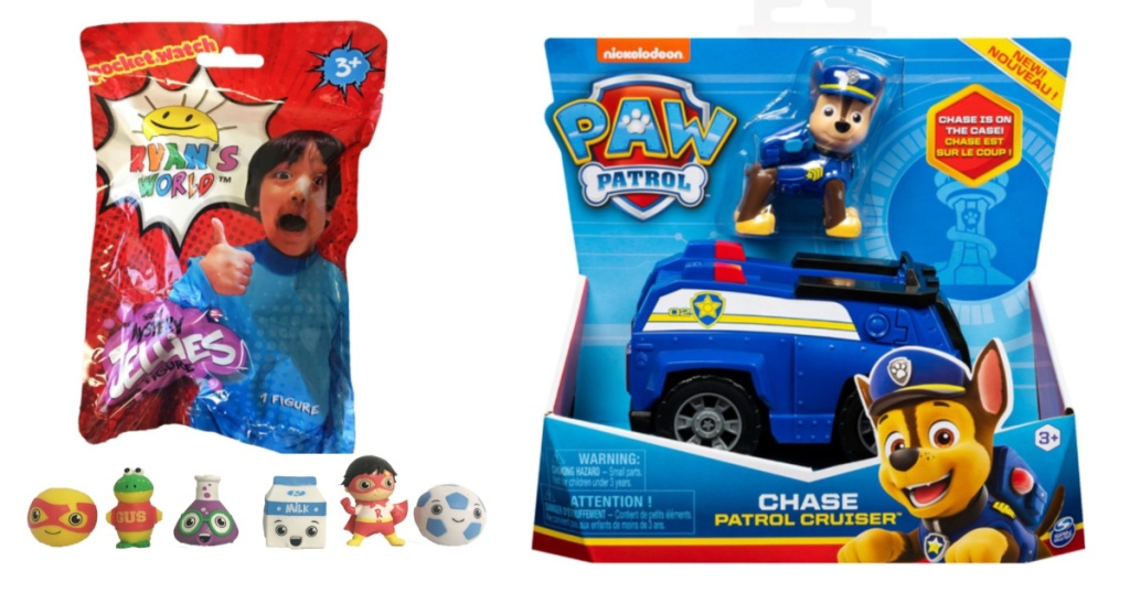 ryans world jelly minifigures + paw patrol chase vehicle