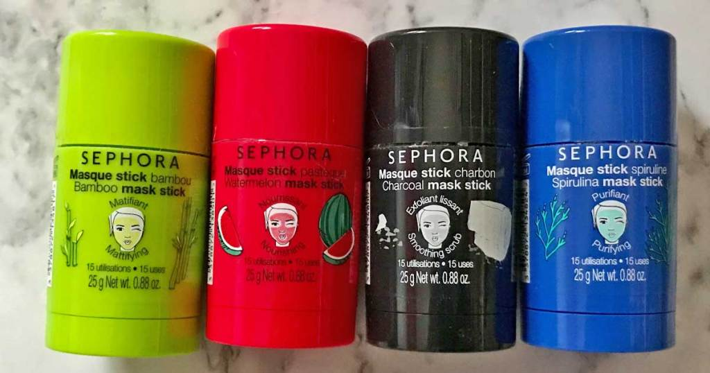 sephora mask sticks in four colors