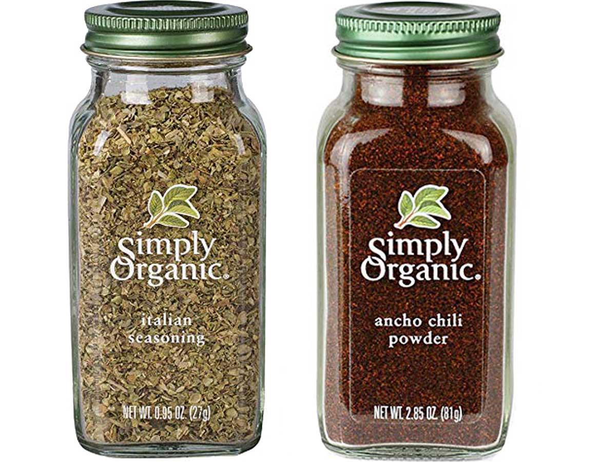 stock image of simply organic italian and chili powder