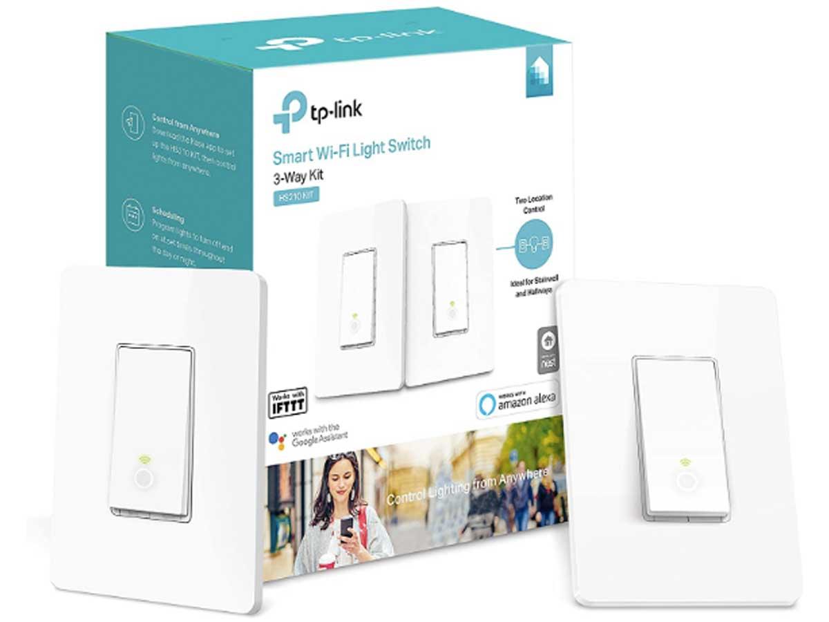 smart wi fi light switch stock image