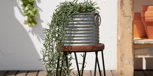 2 Sonoma Galvanized Planters w/ Stands Only $34.98 Shipped for Kohl's Cardholders | Only $17.49 Each