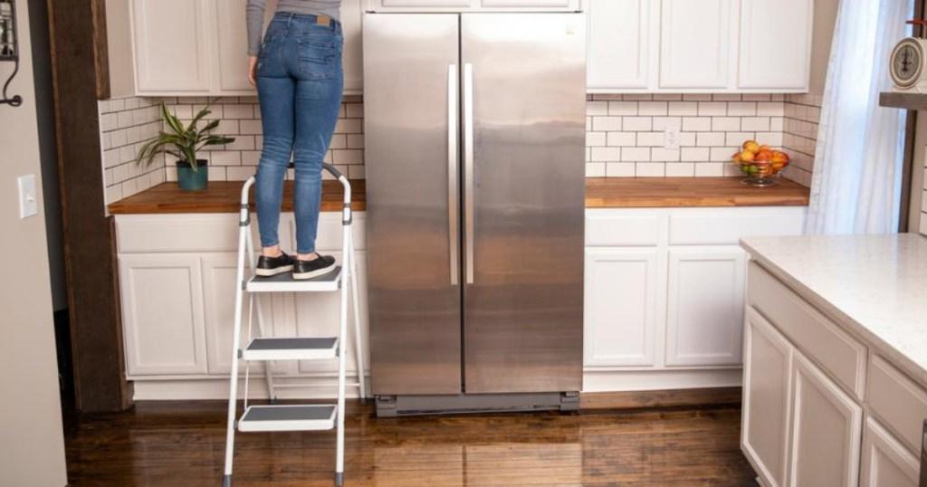 gorilla step stool ladder in kitchen