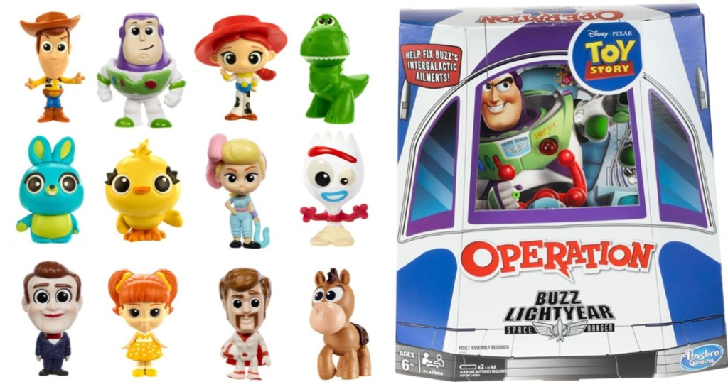 toy story 4 toys minifigures and operation game