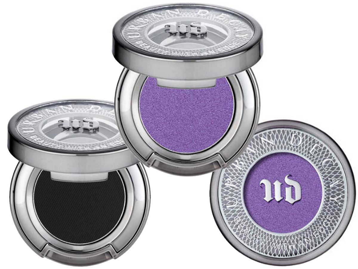 stock image of eye shadows in purple and black