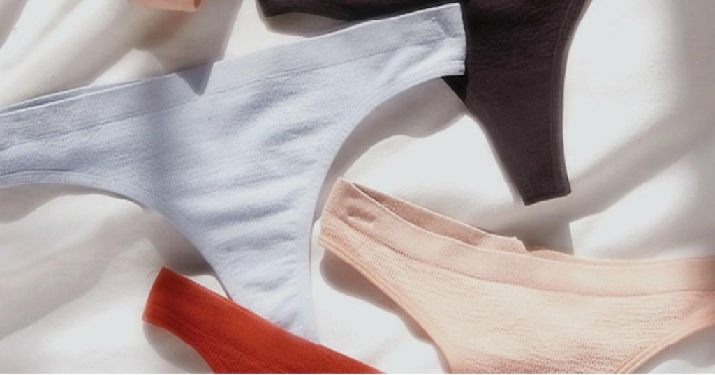 various pairs of women's underwear