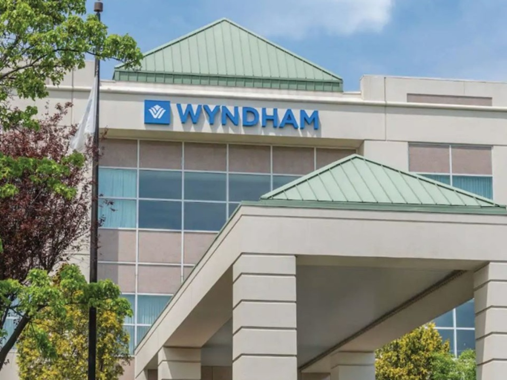 exterior of a Wyhdham hotel