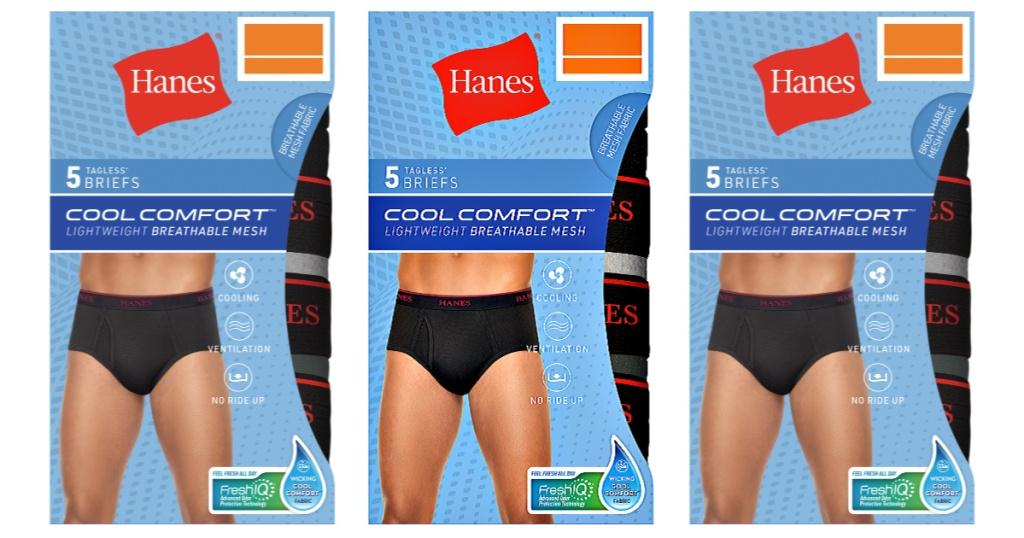 5-Pack Hanes Men's Cool Comfort Briefs