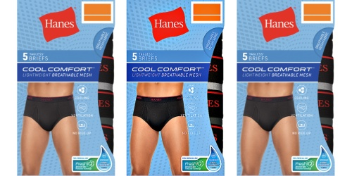 Hanes Men's Cool Comfort 5-Pack Briefs Only $9 on Amazon (Regularly $16)
