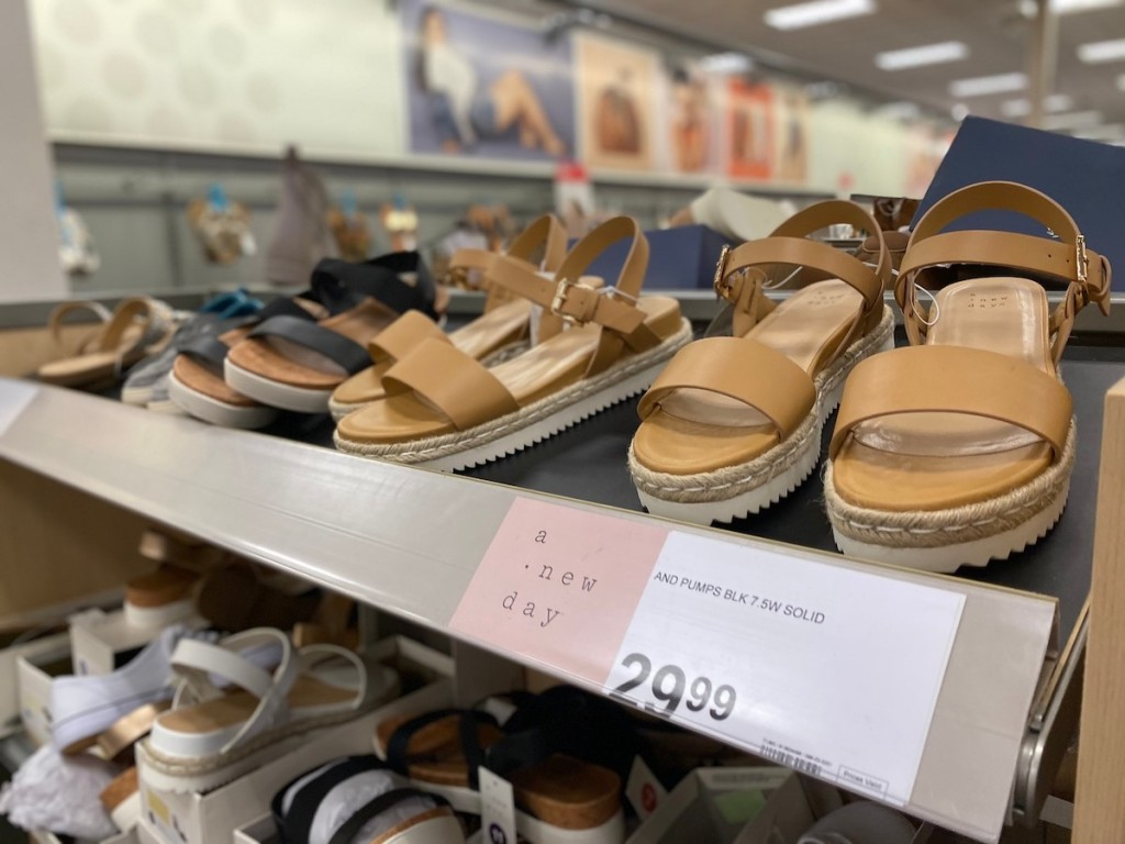shelf of A New Day Women's Rianne Espadrille Ankle Strap Sandals in target