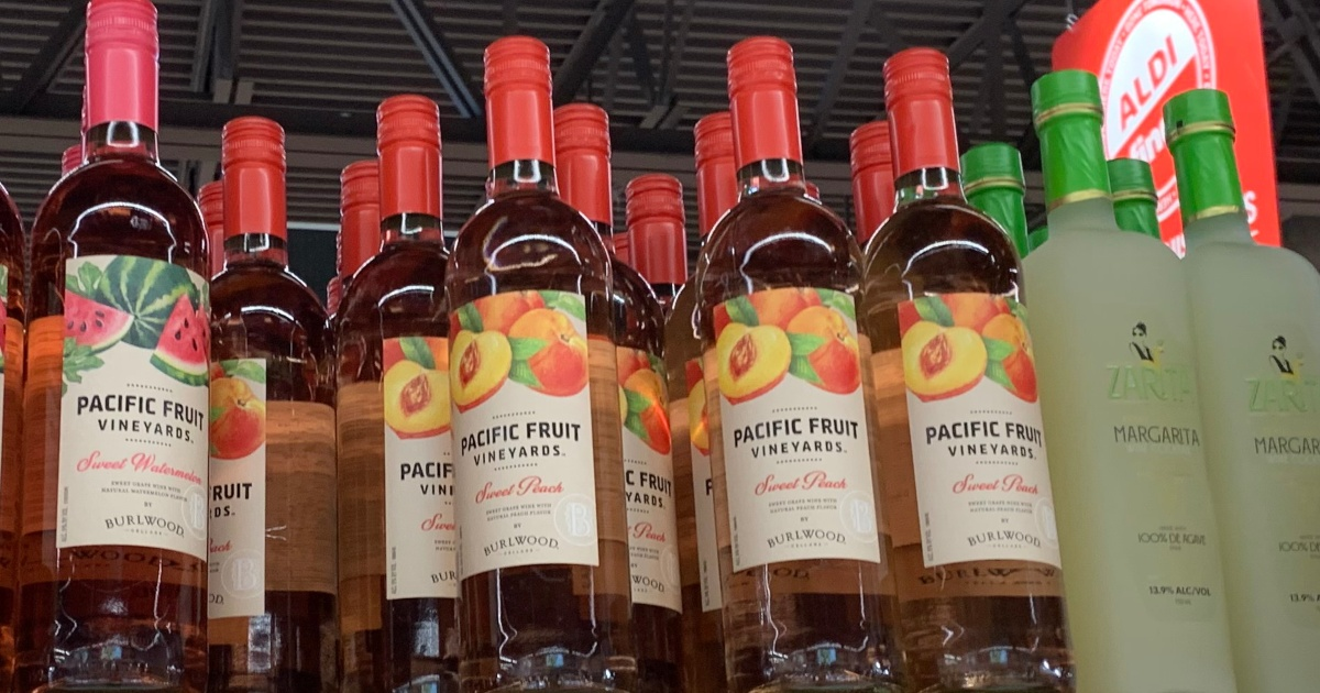 peach wine at ALDI