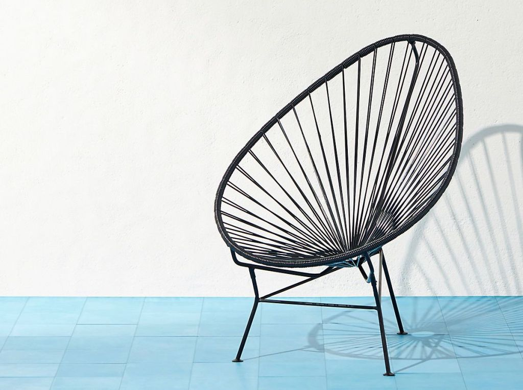 chair sitting on a patio