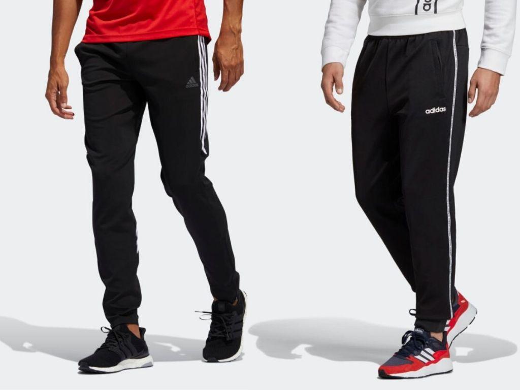 two men wearing track pants