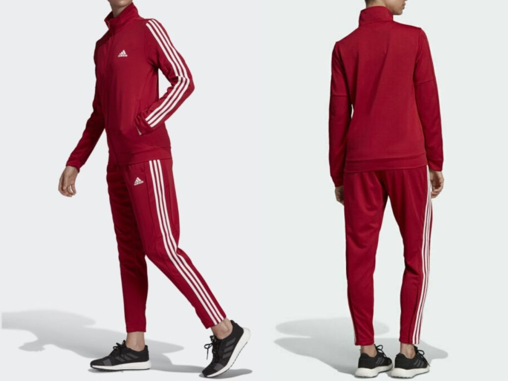 woman wearing track suit