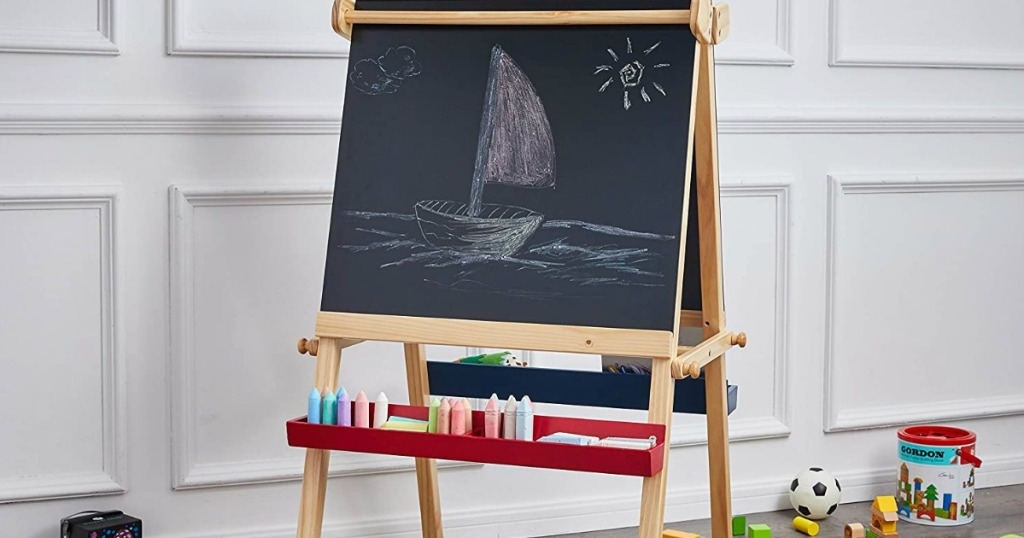 AmazonBasics Easel in playroom