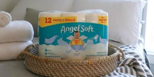 Angel Soft Toilet Paper Family Rolls 12-Pack Only $3.50 on Walgreens.com