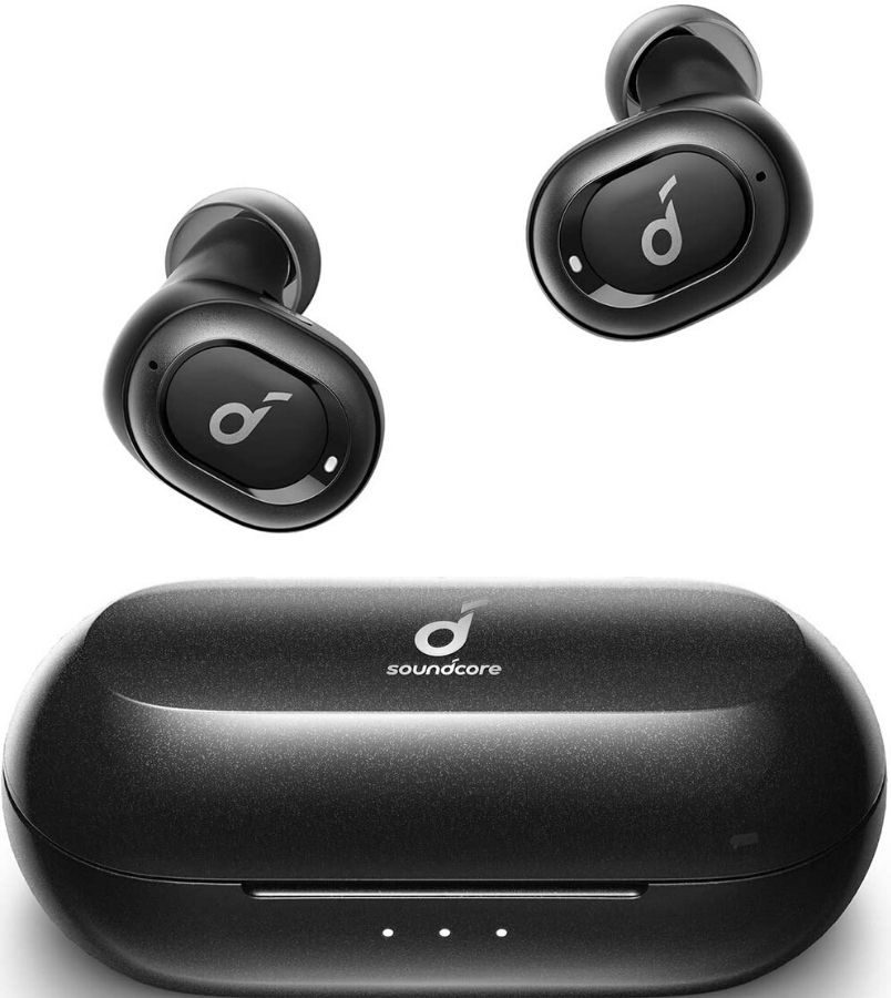 wireless earbuds and charging case