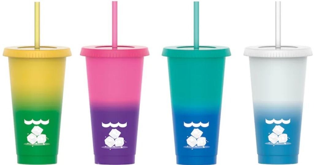 4 color changing cups