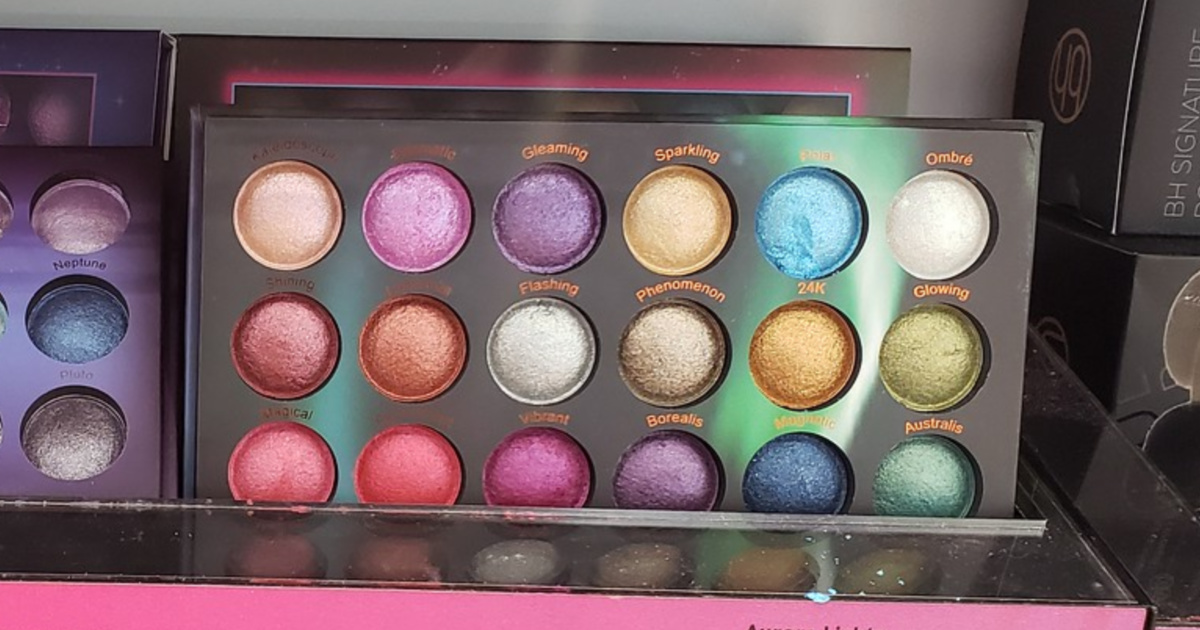 BH Aurora lights baked eyeshadow palette in store