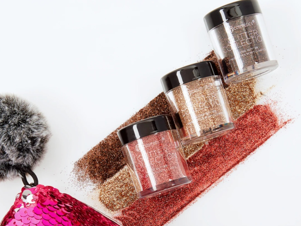 3 jars of BH Cosmetics glitter eyeshadows