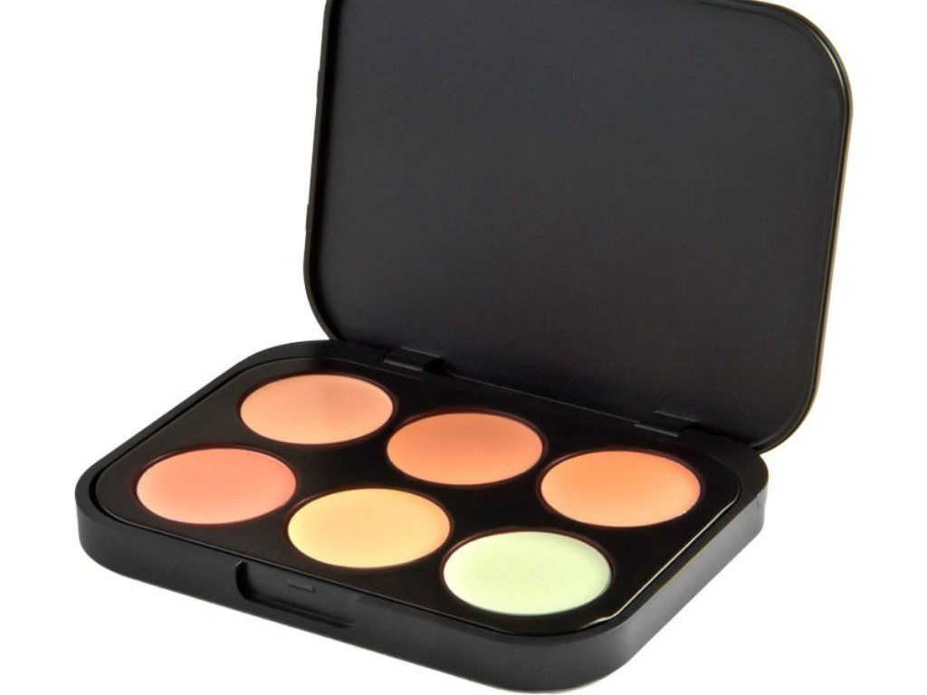 BH Cosmetics 6 palette concealer in a black case