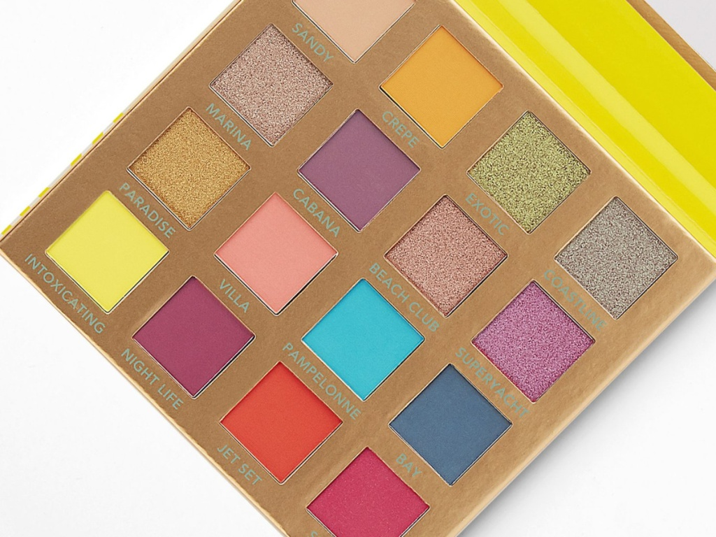 BH Cosmetics brightly colored St. Tropez eyeshadow palette