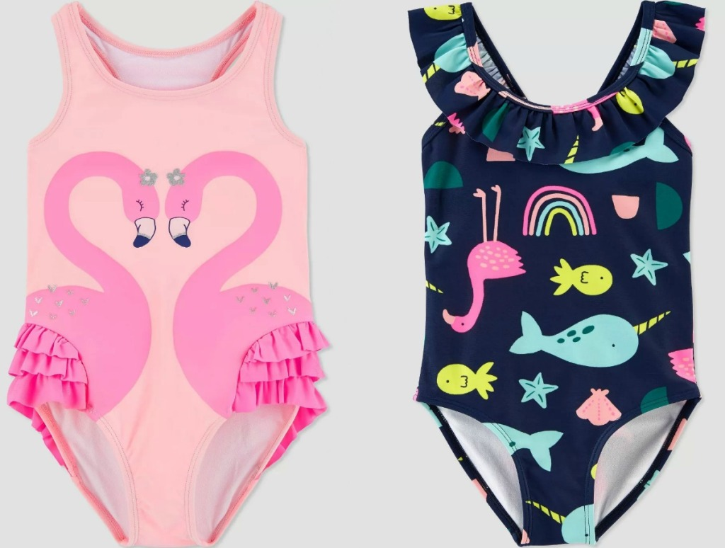 Two baby girls swimsuits