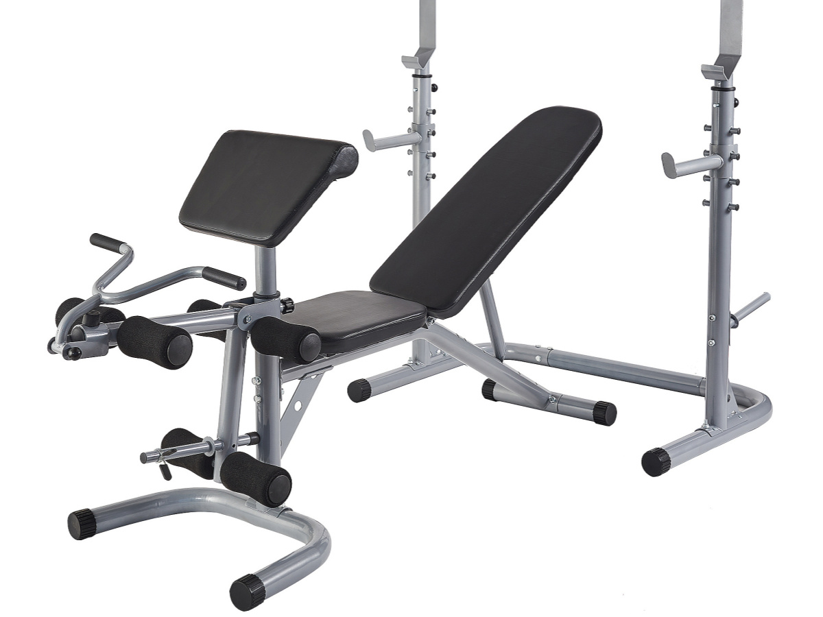 side view of a home gym