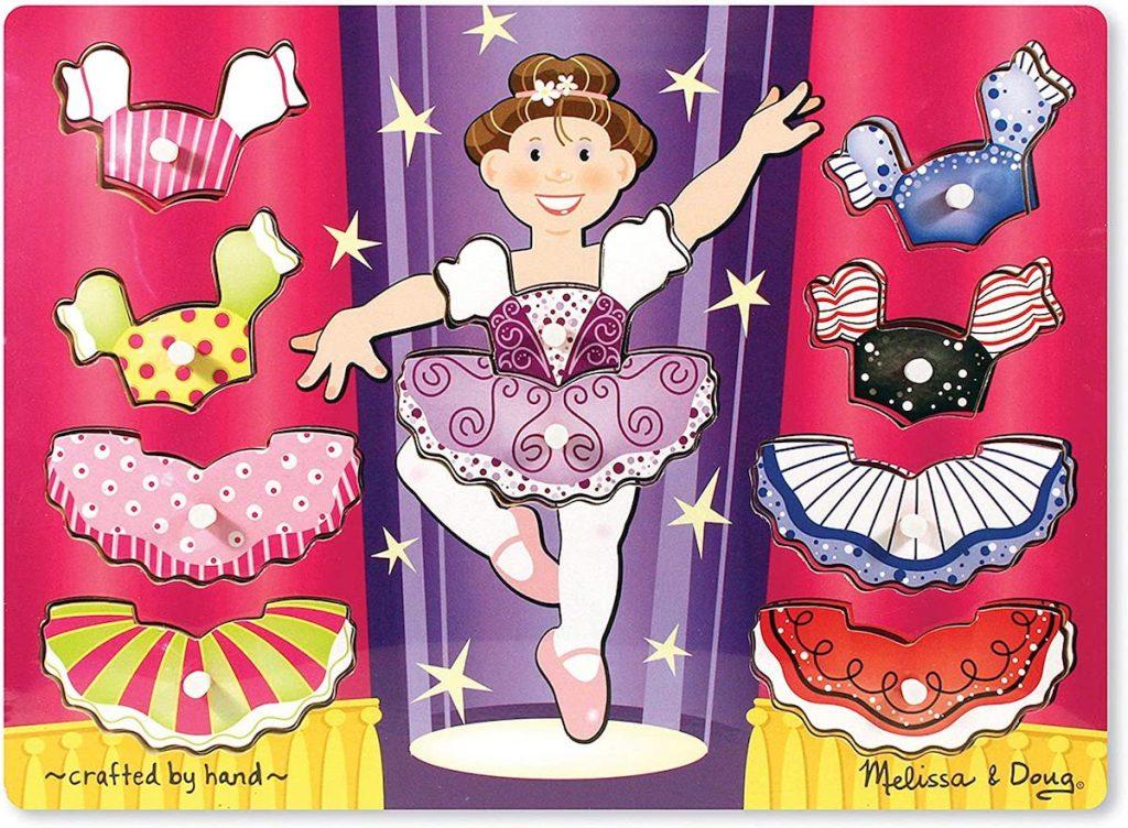 Melissa & doug Ballerina Dress-Up Mix 'n Match Peg Puzzle