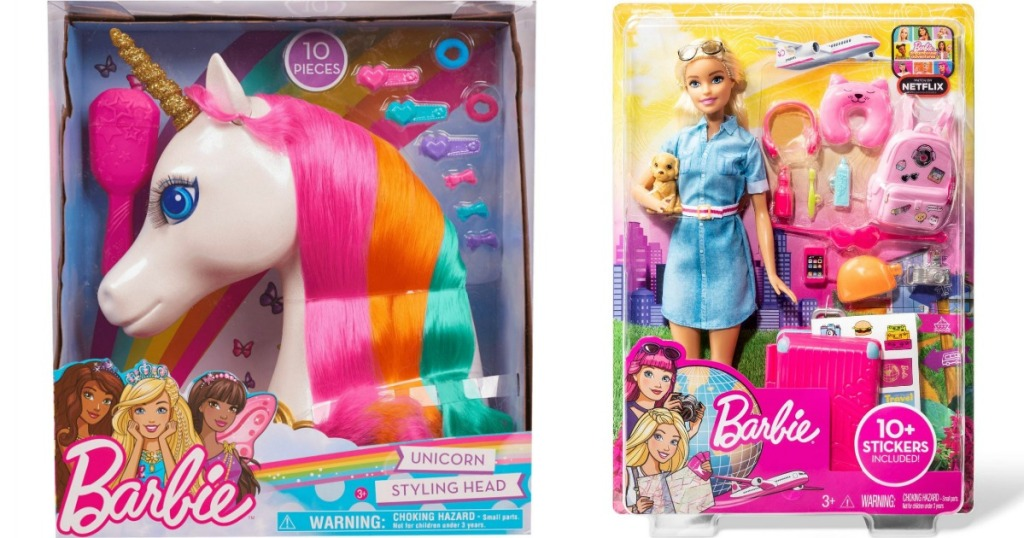 Barbie Unicorn and Travel Set