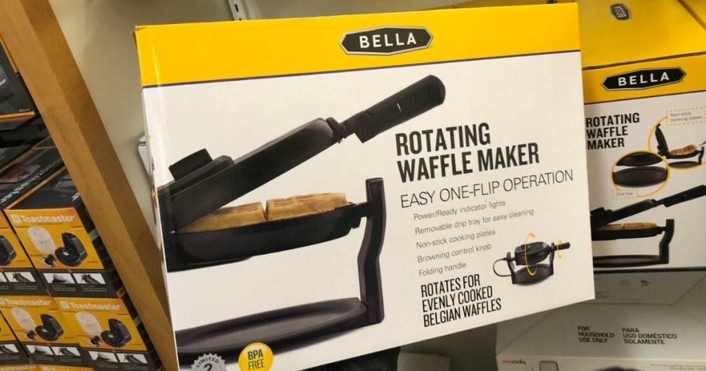 box of a Bella Rotating Waffle Maker