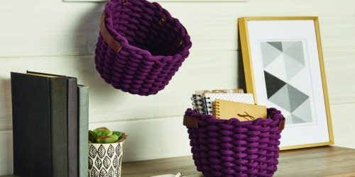 TWO Better Homes & Gardens Rope Baskets Just $9.98 on Walmart.com (Regularly $20)