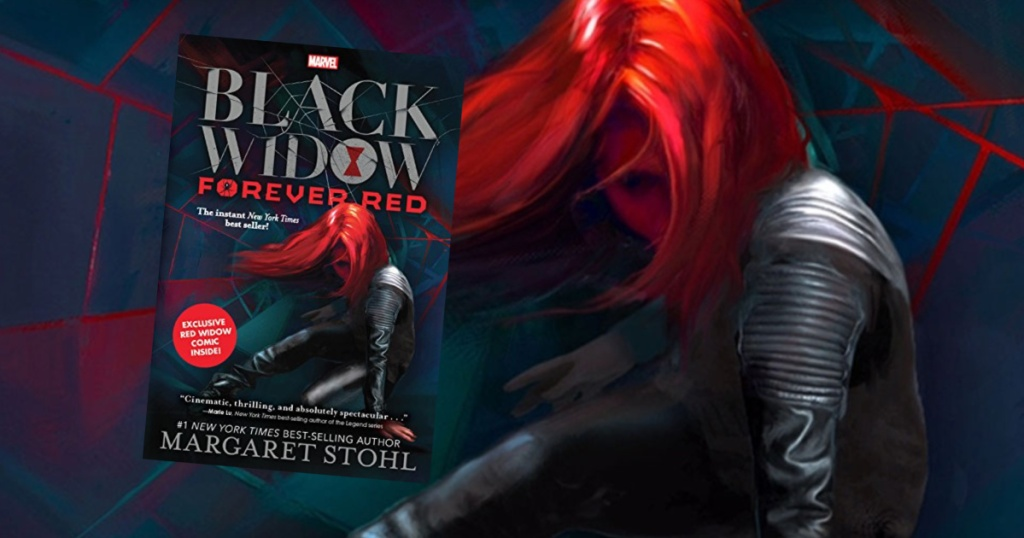 Black Widow Book and woman graphic