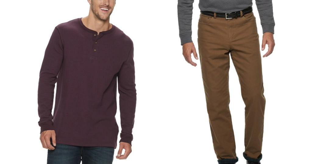 croft and barrow and sonoma apparel on two men