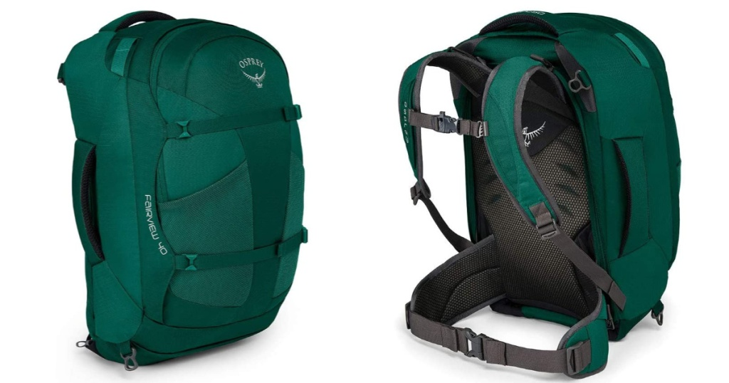 osprey womens 40 backpack front and back