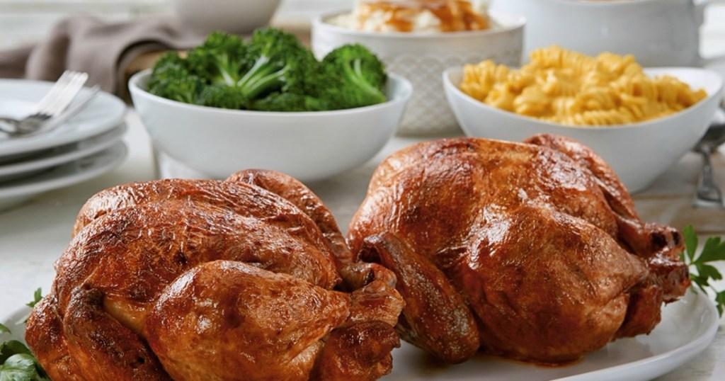 rotisserie chicken on a plate