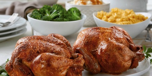 Free Boston Market Whole Rotisserie Chicken w/ Family Meal Purchase